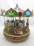 A Mickey Holiday Carousel Mr. Christmas Mouse Merry Go Round Musical 30 Songs 1997