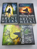 Brent Weeks Lightbringer 1 2 3 Book Set Books Black Prism Blinding Knife Broken Eye