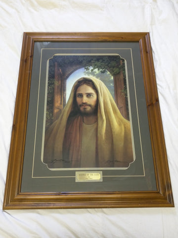 Keeper of the Gate Signed Greg Olsen Jesus Print 34 X 26 Wood Frame