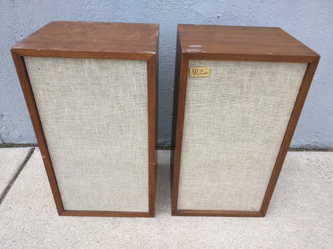 AR 2ax Walnut Speakers PAIR Acoustic Research Vintage 1960s AR-2A Set