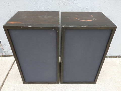 AR-2A Dark Speakers PAIR Acoustic Research Vintage 1960s AR2a Set