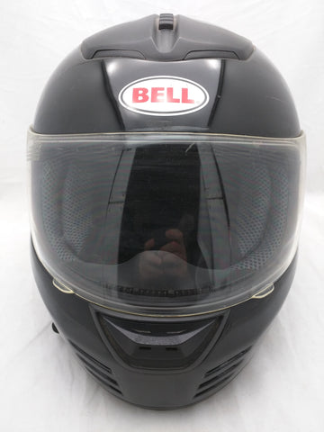 XL BELL ZEPHYR HELMET BLACK FULL FACE CLEAR SHIELD Dot Large Extra