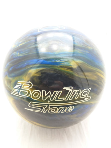 10.25 LBS Undrilled Bowling Stone Brunswick Bowling Ball New NOS Swirl Blue Yellow Marble