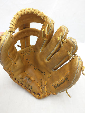 1200 Reggie Jackson Rawlings Endorsed Vintage Baseball Glove Mitt Leather RHT