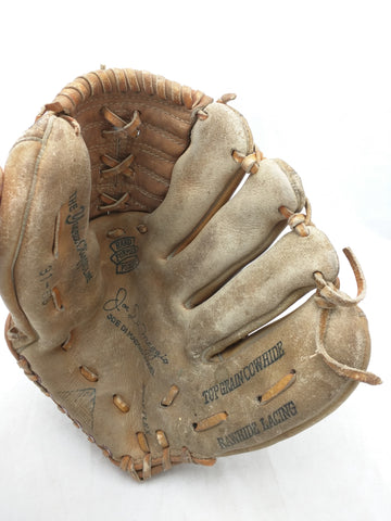 31-58 Joe Di Maggio Yankee Clipper Line Trio Hollander Endorsed Vintage Baseball Glove Mitt Leather RHT