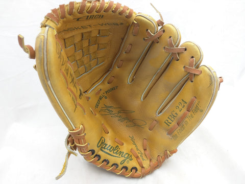 RBG 224 Ken Griffey Jr Rawlings Endorsed Vintage Baseball Glove Mitt Leather RHT