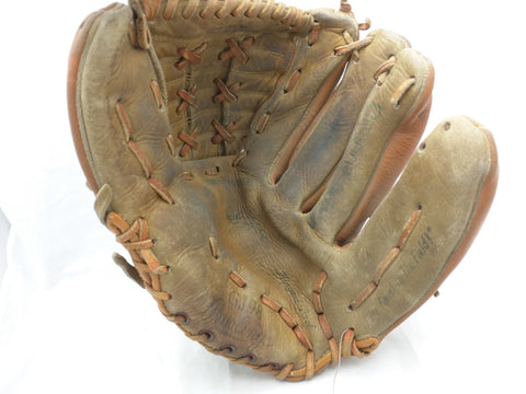 GJ98 Bobby Tolan Rawlings Endorsed Vintage Baseball Glove Mitt Leather RHT