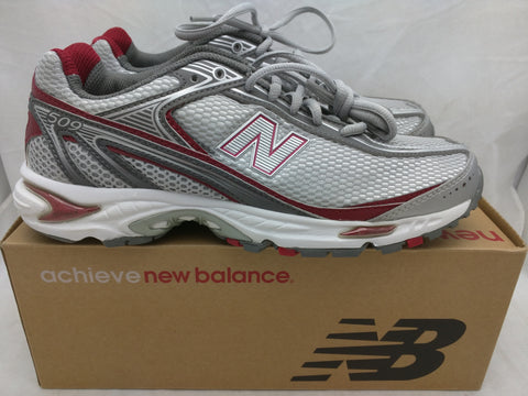 SZ 8 509 New Balance Silver/Burgandy Women's Running Shoes Sneakers LN