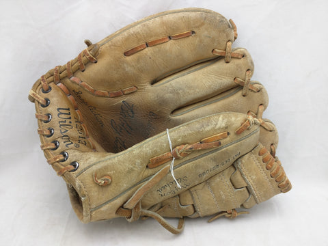A2612 Bobby Bonds Snap Action LHT Wilson Endorsed Vintage Baseball Glove Mitt Leather