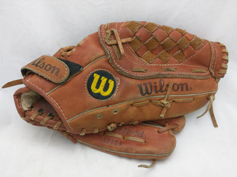 A2124 George Brett RHT Wilson Endorsed Signature Snap Action Vintage Baseball Glove Mitt Leather