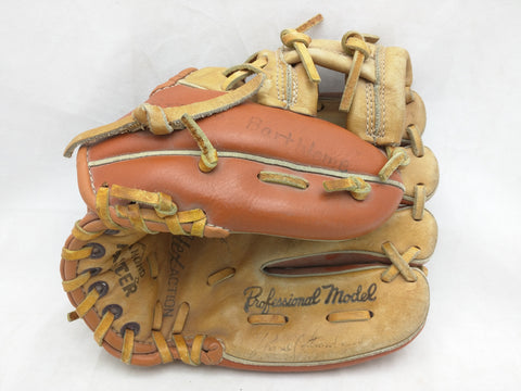 S360 Signed by? Diamond Master Vintage Baseball Glove Mitt Palm Leather Tee Ball