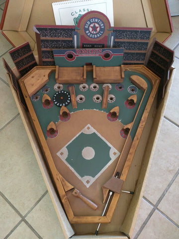 Old Century Baseball Game Lever Classic BoardGame Pinball Wooden Wood