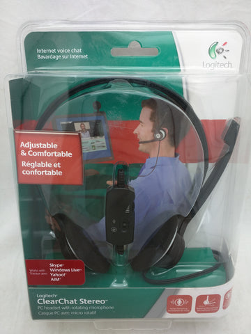 Logitech ClearChat Stereo PC Headset with Rotating Microphone Noise Canceling