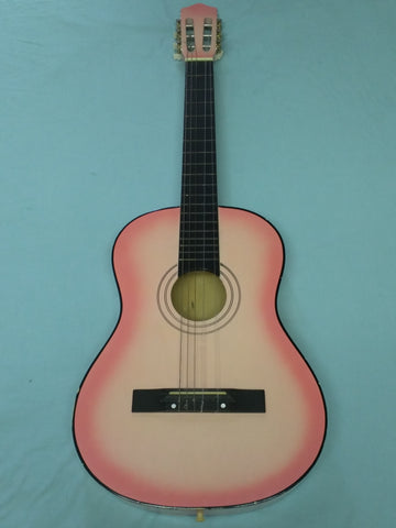Pink Acoustic Guitar