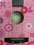 FG3038 Flower Floral Discovery Pink Kid Child Acoustic Guitar First Act