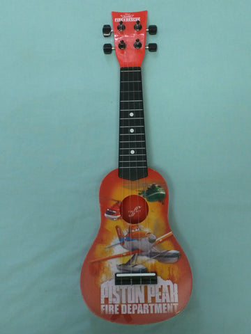 Planes Fire $ Rescue Red Ukulele Kid Guitar Disney Piston Peak Department First Act Boy Toy