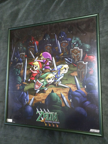 Legend Of Zelda Framed Poster Four Swords Adventure 21 X 23