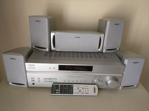 Sony FM AM Stereo Receiver STR-K5800P 5 Speakers Remote