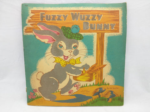Fuzzy Wuzzy Bunny 1944 Easter Book Kids