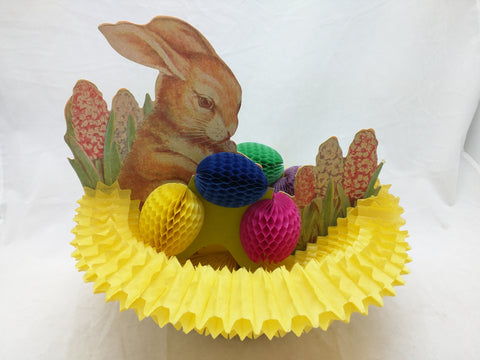 Easter Bunny Eggs Honeycomb Paper Fold-Out Display
