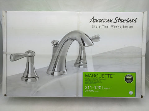 American Standard Marquette Bathroom Faucet New Chrome 211-120 7768F
