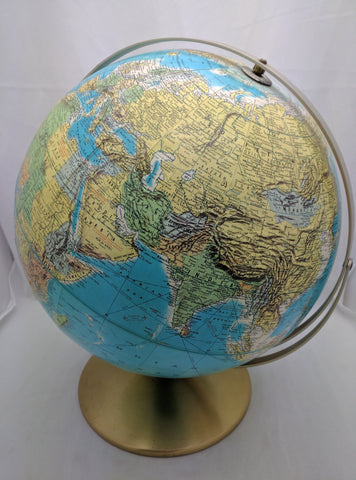 SOLD!!!  Globe vintage school schoolhouse earth planet