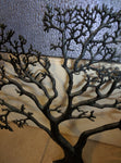 "Tree of Life Metal 24"" X 30"" Wall Hanging living room decor art brass"