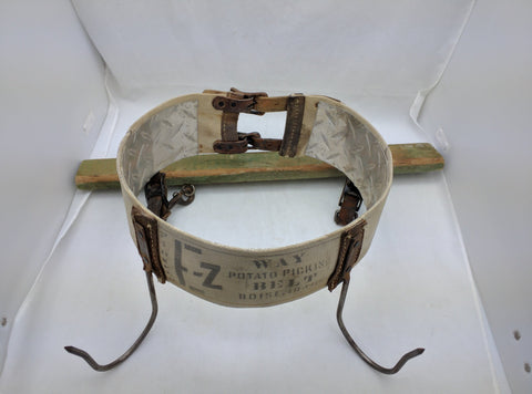 Potato Picking Belt Boise Idaho EZ Pioneer Vintage for Burlap Bag Display
