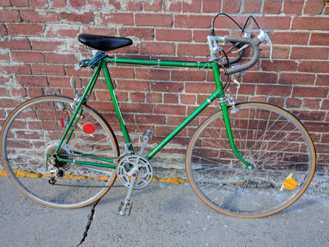 64.5 cm Kobe Bike Bicycle Vintage Road Bike Multi speed. Japan Rare 1970s? Green