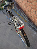 Raleigh Tourist Road Bike Bicycle RARE ROD BRAKES Vintage Leather Brooks Seat Womens