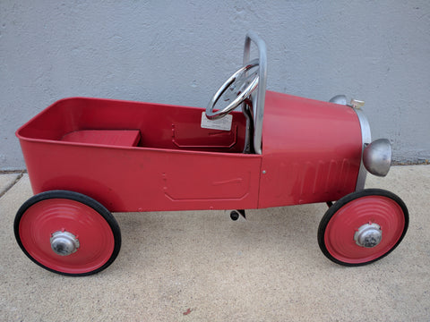 Pedal Car Red Ride-On Kid Youth 30 X 15 X 15 hot rod roadster T-Bucket