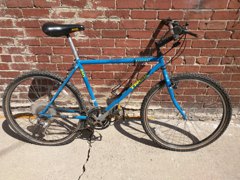 47 cm Trek Antelope 850 Bike Bicycle Road Mountain Hybrid Blue 1990's #2