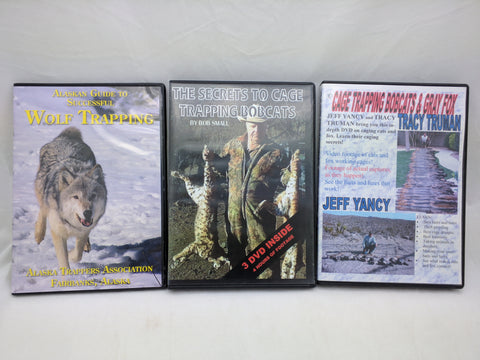 Trapping 5 DVD SET Secrets to Cage Bobcats Gray Fox Wolf Alaskan Guide Trappers Hunting