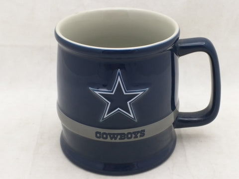 Star Mug Dallas Cowboys Cup NFL Blue Grey Coffee