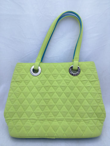 Green Lime Aqua Quilted Vera Bradley Purse Small Bag Solid
