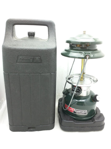 288A Mint 1994 Coleman Adjustable 2 Mantle Dual Flame Lantern Green Correct Case