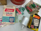 1961 200A Single Mantle Coleman Lantern Red Box Papers Filter Funnel