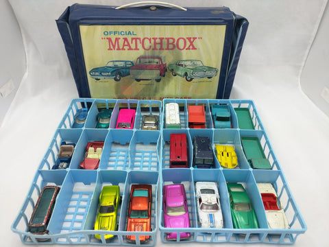 21 Cars Hot Wheels 1969 Matchbox Collector's Mini-Case Mustang Antifreeze Vintage Louvered Red line