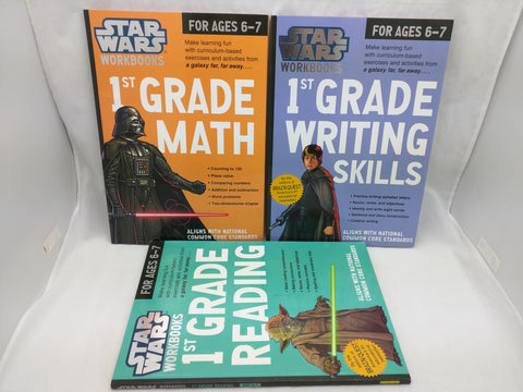 1st Grade Age 6 7 Star Wars 3 Workbook Writing Math Reading Common  Core