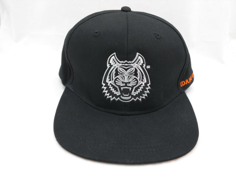 ISU Hat Black Silver Tiger Idaho State Bengals Baseball Cap University Name Brand Snapback