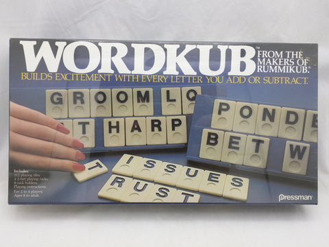 Wordkub Pressman New Sealed 1985 Game Letter Word Tiles