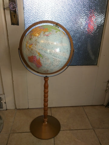 "12"" Floor 33"" Stand World Nation Replogle Globe Series Blue Bronze"