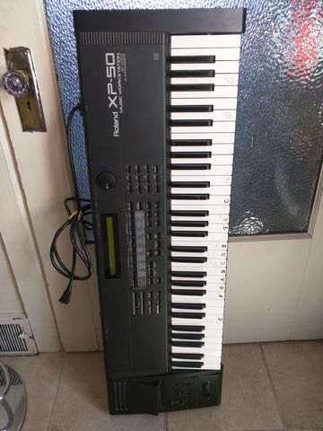 AS-IS Roland XP-50 Electronic Keyboard Piano Synthesizer Workstation XP50