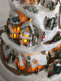 AS-IS Holiday Reflections Thomas Kinkade CHRISTMAS TREE MOVING TRAIN MUSIC LIGHTED