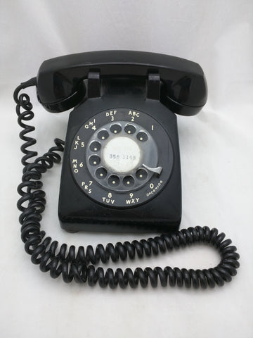 1967 Black Bell System Rotary Phone Telephone Vintage