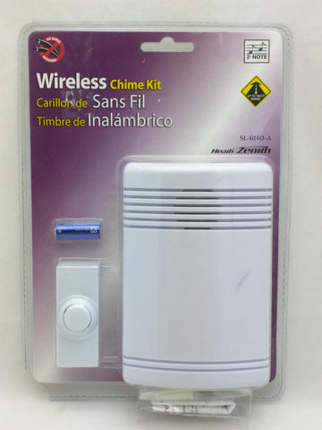Heath Zenith SL-6140 Wireless Battery Operated Door Chime Kit - White A
