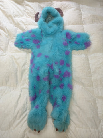 2T - 4T Sully Costume Youth Disney Store Monsters Inc. Furry Plush Kids Warm