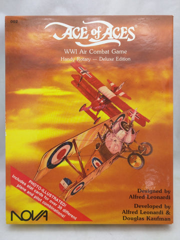 NOVA Ace of Aces WWI Air Combat Game Handy Rotary Deluxe Box Game 1986