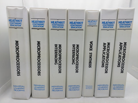 Lot 7 Heathkit Continuing Education Microprocessor Applications Learning Program Book