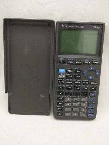 TI-82 Texas Instruments Graphing Calculator w/Cover Tested Working 29